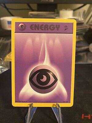 Pokemon Psychic Energy Card, 2nd base set, 129/130, NM to LP with scratches