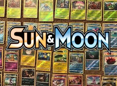Pokemon Sun and Moon Reverse Holos - Singles - NM