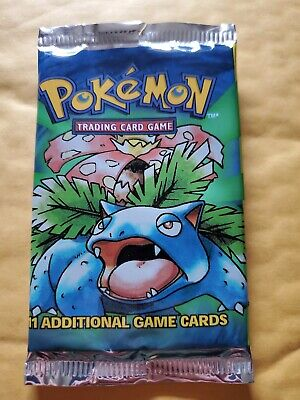 Pokemon Base Set OPENED* Pack Fresh Mint Cards ! Charmander & Beedrill !