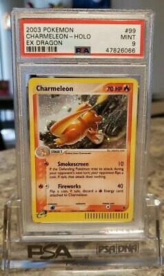 PSA 9 - Charmeleon 99/97 - EX Dragon - Secret Rare Pokemon Card - MINT