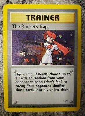 The Rocket's Trap #19 - Gym Heroes - Holo Rare Pokemon - Moderately Played MP