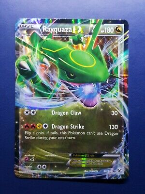 Rayquaza Ex 60/108 Half Art Holo Rare Pokemon Card XY Roaring Skies 2015 - Nm/Ex