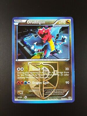Druddigon 94/135 Rare Shatter Holo Plasma Storm Pokemon Card - Light Play