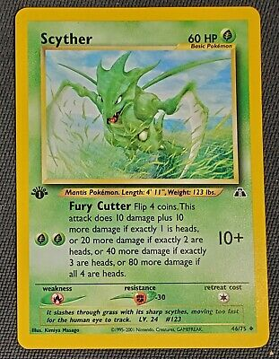 1st edition Pokemon Scyther Neo Discovery 46/75 - NM