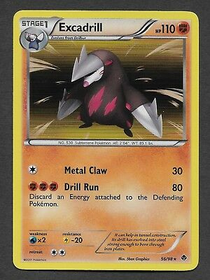 Pokemon Holo Rare Card : Excadrill 56/98 : (B&W Emerging Powers)