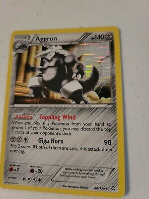 Aggron 80/124 Dragons Exalted Holo Rare Moderate Play MP Pokemon DNA GAMES