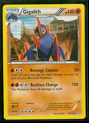 Pokemon GIGALITH 67/124 Dragons Exalted RARE HOLO - MINT