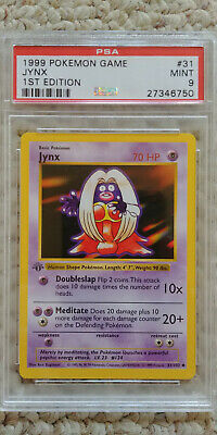 Pokemon Jynx 31/102 1st Edition Base Set PSA 9 MINT Pokemon Game 1999 Shadowless