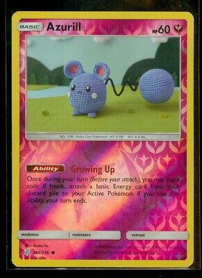 Pokemon AZURILL 146/236 Cosmic Eclipse Rev Holo - MINT