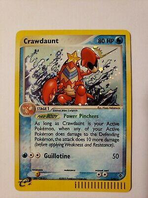 POKEMON CRAWDAUNT HOLO RARE 2003 3/97 EX Dragon Set
