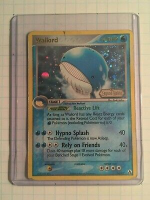 Pokemon Wailord 14/92 Reverse Holo Rare EX Legend Maker Played