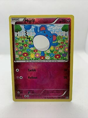 2015 Marill Holo Rare Reverse Primal Clash Pokemon Card Nm 102/160