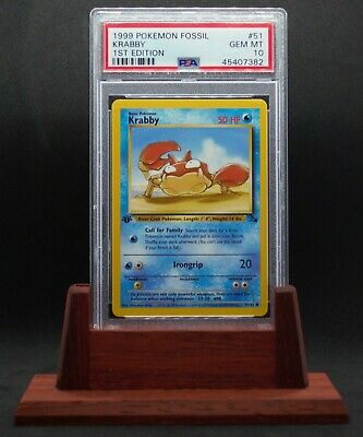 PSA 10 GEM MINT Krabby 1st Edition 1999 Pokemon Fossil #51