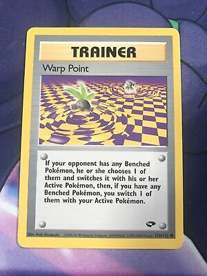 Warp Point - 126/132 - Gym Challenge - Vintage Pokemon Card - EX/VG