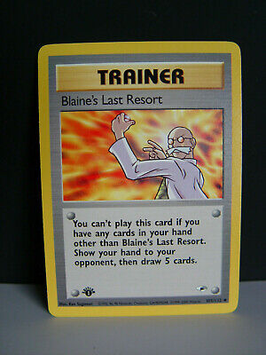 1st Edition Blaine's Last Resort   #105/132 Uncommon Gym Heroes Pokemon Card