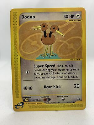 Doduo Aquapolis Set Pokemon Card Near Mint 73/147