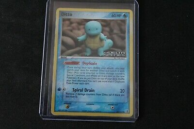 Ditto Squirtle 64/113 Reverse HOLO EX Delta Species Pokemon Card
