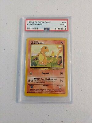 PSA 9 MINT Charmander Base Set Unlimited 46/102 Pokemon 1999 Vintage WOTC