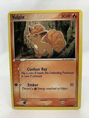 2007 Vulpix Rare Ex Power Keepers NM Pokemon Card 69/108