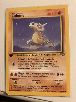 1999 Pokemon Jungle 1st Edition CUBONE #50/64 MINT