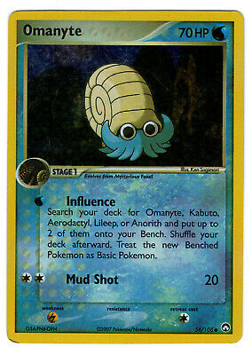Pokemon TCG - Power Keepers - Omanyte - 56/108 - Reverse Holographic Card