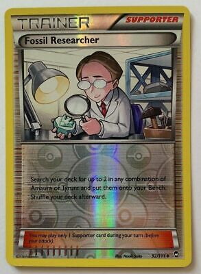 Fossil Researcher 92/111 Reverse Holo Xy Furious Fists 2014 Pokemon
