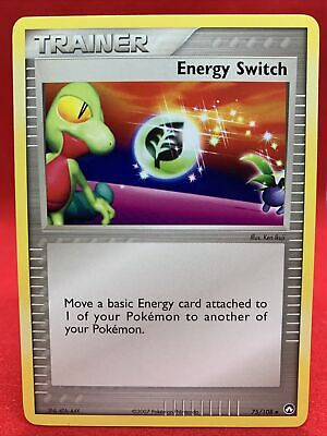 Energy Switch 2007 Ex Power Keepers Pokemon Card NM 75/108
