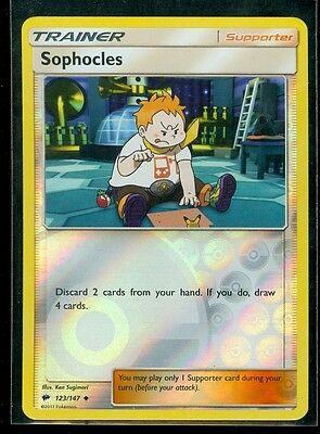 Pokemon SOPHOCLES 123/147 - Burning Shadows - Rev Holo - MINT