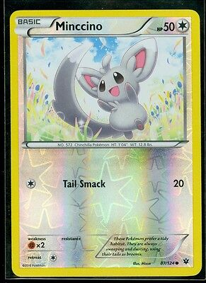 Pokemon MINCCINO 87/124 - XY Fates Collide - Rev Holo - MINT