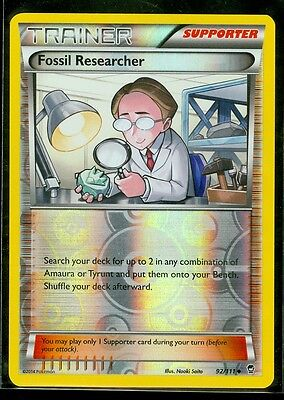 Pokemon FOSSIL RESEARCHER 92/111 - XY Furious Fists Rev Holo - MINT