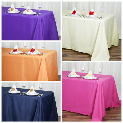 "Скатерть 10 pcs 90""x132"" Polyester Tablecloth"