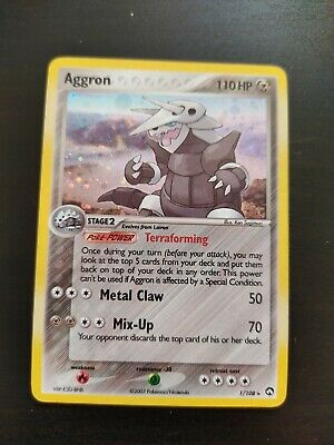 POKEMON CARD AGGRON (Holo) Played 1/108 EX Power Keepers
