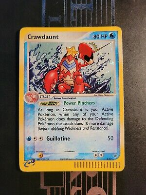 Crawdaunt - 3/97 - Played Holo Rare Pokemon Card - EX Dragon t1