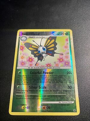 Beautifly Reverse Holo - 21/127 Platinum Light Play - Pokemon Card TCG