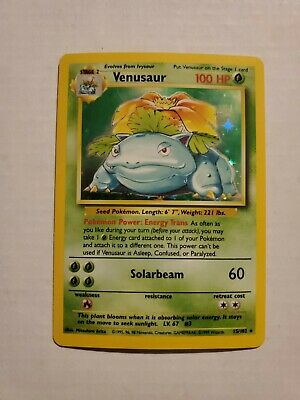 Pokemon Venusaur 15/102 Base Set Rare Holo