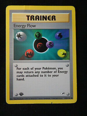 Pokemon Card: Trainer ENERGY FLOW - #122/132 Gym Heroes - 1st Edition - LP