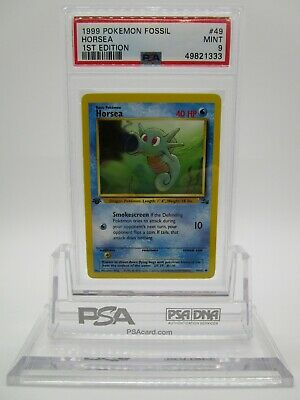 PSA 9 MINT Horsea 1999 Fossil 1st Edition Pokemon Card 49/62
