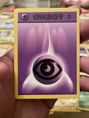 Psychic Energy 129/130 Base Set 2 Pokemon Card 2000 NM-Mint Never Played(8 total