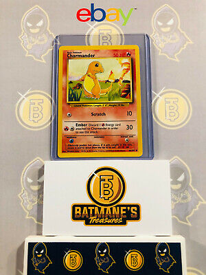 Charmander 46/102 NM Near Mint Base Set WOTC 1999 Non-Holo Pokemon Card