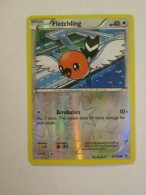 084PK082r - Fletchling - 82/108 - Roaring Skies - Common Reverse - Pokemon - NM