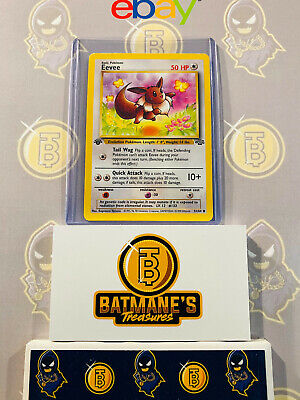 Eevee 51/64 1st Edition NM Near Mint Jungle Set Non-Holo Pokemon Card