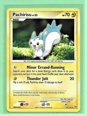 1x Pokemon 2007 Pachirisu 35/130 Diamond & Pearl Reverse Holo NM