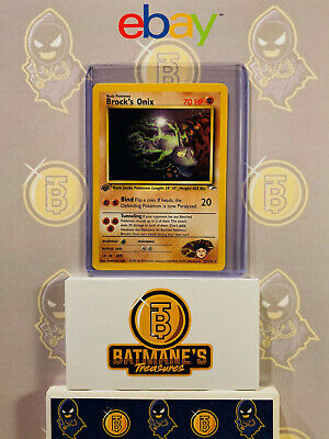 Brock's Onix 21/132 1st Edition NM Mint Gym Heroes Rare Non-Holo Pokemon Card
