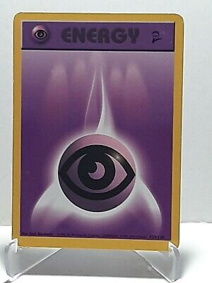 Psychic Energy 129/130 Pokemon Base Set 2 MP Used See Pictures