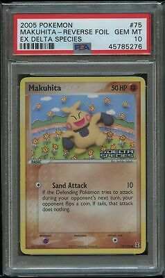 Pokemon Makuhita Reverse Foil PSA 10 Gem Mint 75/113 Ex Delta Species - POP 4!!