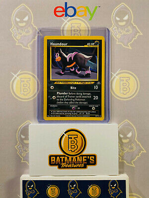 Houndour 39/75 1st Edition NM Near Mint Neo Discovery Non-Holo Pokemon Card