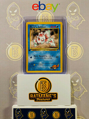 Misty's Goldeen 30/132 1st Edition NM Mint Gym Heroes Rare Non-Holo Pokemon