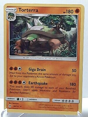 Torterra 58/131 Pokemon Forbidden Light NonHolo Rare LP Used See Pictures