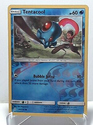 Tentacool 40/214 Pokemon Unbroken Bonds Reverse Holo Water LP Used See Pictures