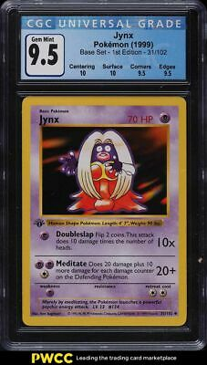 1999 Pokemon Base Set 1st Edition Shadowless Jynx 31/102 CGC 9.5 GEM MINT